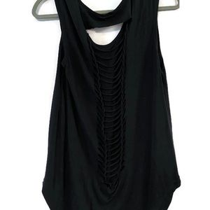 90 Degrees black tank top with caged back  SZ: L